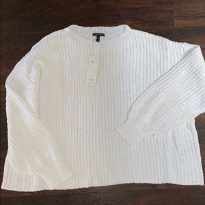 NWT Eileen Fisher White Cozy Cotton Sweater 3X
